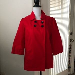 🍒 Old Navy twill cherry red twill peacoat/jacket